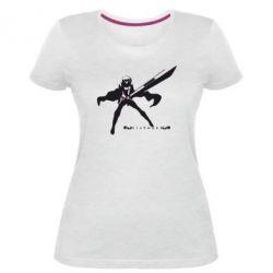 Женская стрейчевая футболка Клеймор