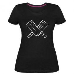 Женская стрейчевая футболка Knives