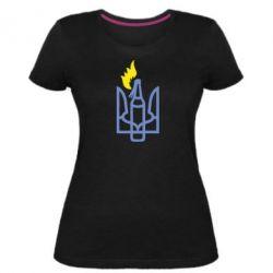 Жіноча стрейчева футболка Коктейль Молотова