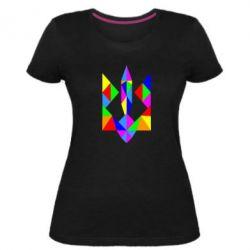 Женская стрейчевая футболка Кольоровий герб