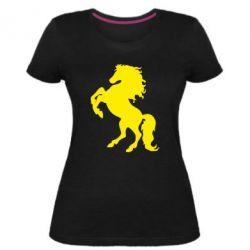 Жіноча стрейчева футболка Кінь