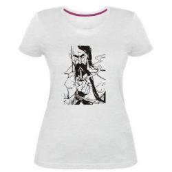 Женская стрейчевая футболка Козачина з люлькою