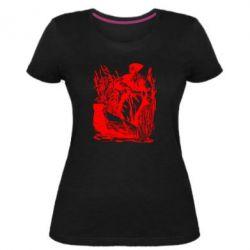 Женская стрейчевая футболка Козак у камишу
