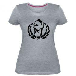 Жіноча стрейчева футболка Козак у вінку