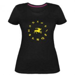 Женская стрейчевая футболка козерог - FatLine