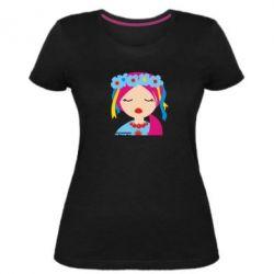 Женская стрейчевая футболка Красива україночка - FatLine