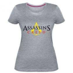 Жіноча стрейчева футболка Кредо вбивці