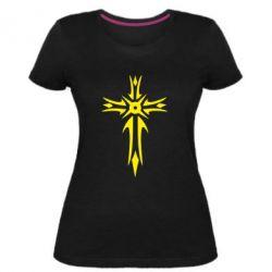 Женская стрейчевая футболка Крест 2