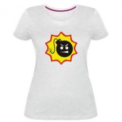 Женская стрейчевая футболка Крутой Сем