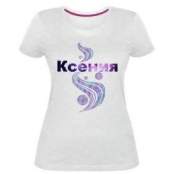 Женская стрейчевая футболка Ксения