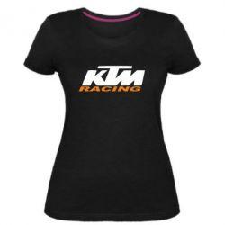 Жіноча стрейчева футболка KTM Racing - FatLine