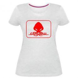 Женская стрейчевая футболка Ктулху