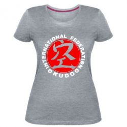 Жіноча стрейчева футболка Kudo