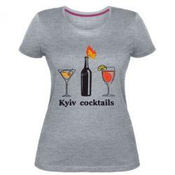 Жіноча стрейчева футболка Kyiv Coctails