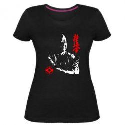 Жіноча стрейчева футболка Kyokushin Kanku logo
