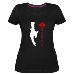 Женская стрейчевая футболка Kyokushin Kick