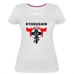 Женская стрейчевая футболка Kyokushin