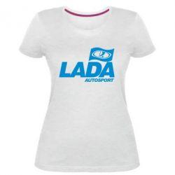 Женская стрейчевая футболка Lada Autosport