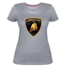 Жіноча стрейчева футболка Lamborghini Logo