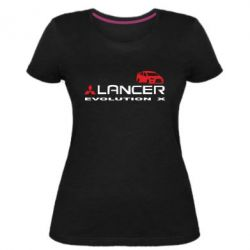 Женская стрейчевая футболка Lancer Evolution X