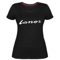Женская стрейчевая футболка Lanos Logo