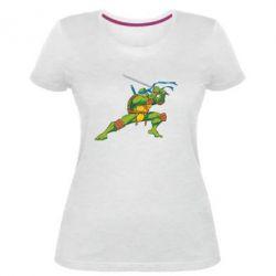Женская стрейчевая футболка Leo - FatLine