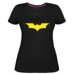 Жіноча стрейчева футболка кажан