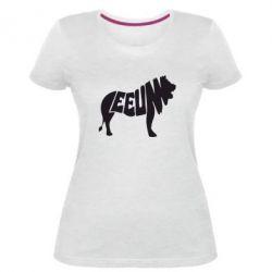 Женская стрейчевая футболка Лев 2