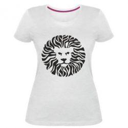 Женская стрейчевая футболка лев - FatLine
