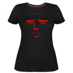 Женская стрейчевая футболка Лицо аниме - FatLine