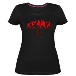 Жіноча стрейчева футболка Lineage fight