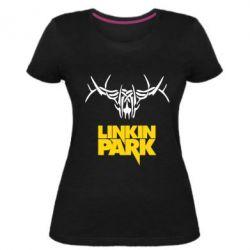 Жіноча стрейчева футболка Linkin Park Logo