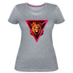 Жіноча стрейчева футболка Lion art