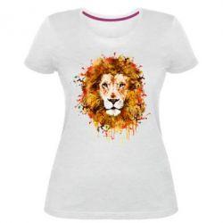 Жіноча стрейчева футболка Lion Art - FatLine
