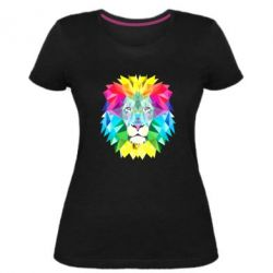 Женская стрейчевая футболка Lion vector