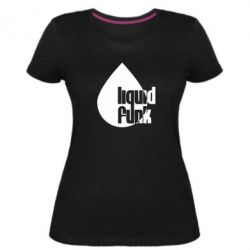 Женская стрейчевая футболка Liquid funk - FatLine