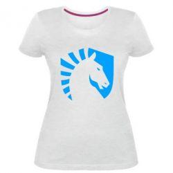 Жіноча стрейчева футболка liquid logo