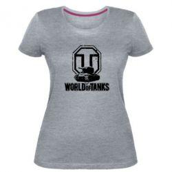Женская стрейчевая футболка Логотип World Of Tanks