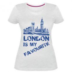Купить Женская стрейчевая футболка Лондон моноцвет, FatLine