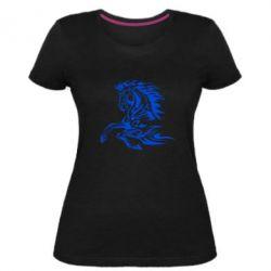 Женская стрейчевая футболка Лошадь