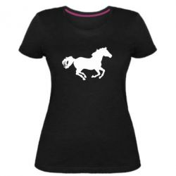 Жіноча стрейчева футболка Конячка