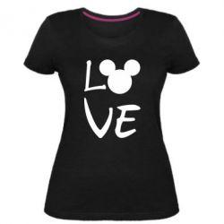 Жіноча стрейчева футболка Love Mickey Mouse (male)