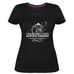 Жіноча стрейчева футболка Love mountains