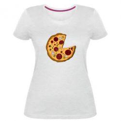 Жіноча стрейчева футболка Love Pizza