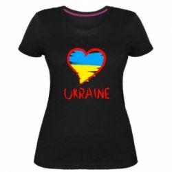 Жіноча стрейчева футболка Love Ukraine