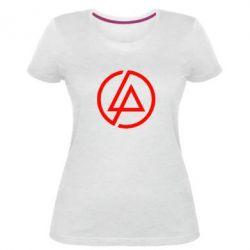 Женская стрейчевая футболка LP logo
