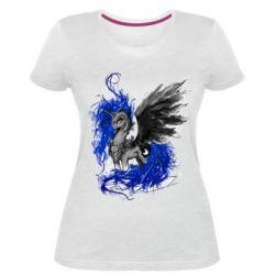 Купить Женская стрейчевая футболка Лунная пони, FatLine