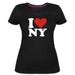 Жіноча стрейчева футболка Люблю Нью Йорк