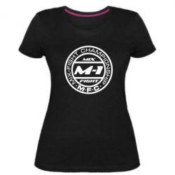 Женская стрейчевая футболка M-1 Logo