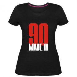 Женская стрейчевая футболка Made in 90